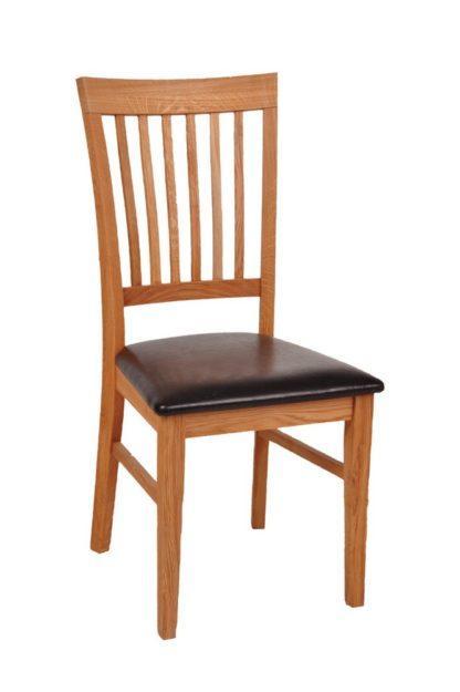Dubová olejovaná polstrovaná židle Raines