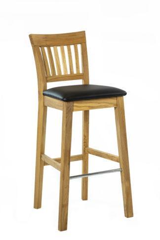 Barová dubová polstrovaná židle Raines