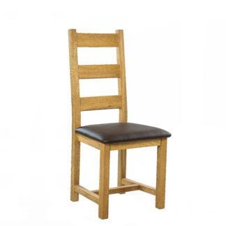 Dubová polstrovaná židle Ladder Back (více variant polstrování)