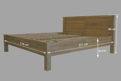 Dubová masívna posteľ Sofi 180 x200 cm