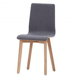 Dubová jídelní židle s prošívanou látkou Luka