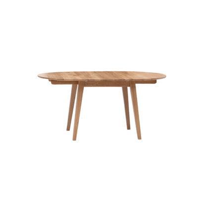 Masívny dubový okrúhly rozkladací jedálenský stôl Genova (viac variantov veľkostí)