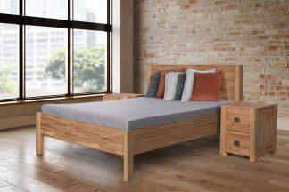 Masivní dubová postel Troja, včetně roštů