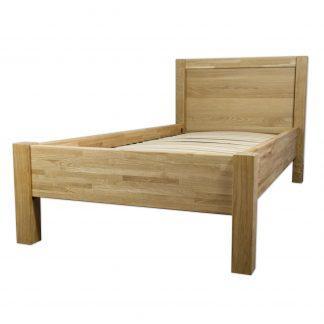 Dubová masivní postel Troja 90 x200 cm, včetně roštu