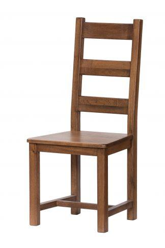 Dubová lakovaná židle Ladder Back rustik