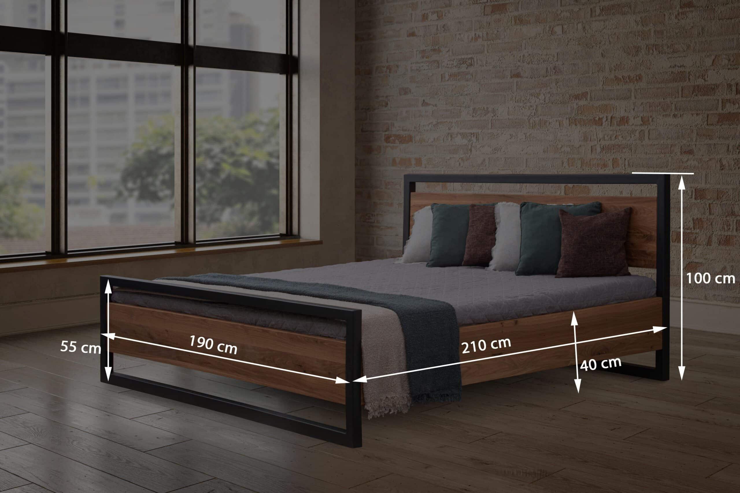 Dubová masívna posteľ Sofi 180 x200cm s roštom