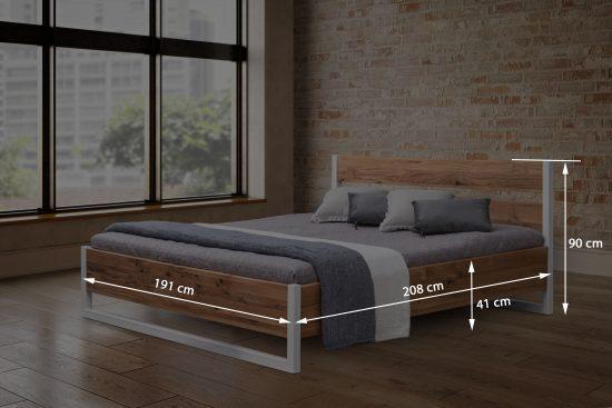Dubová masivní postel Sofi 180 x200cm AKCE DO 25. 7. 2021!