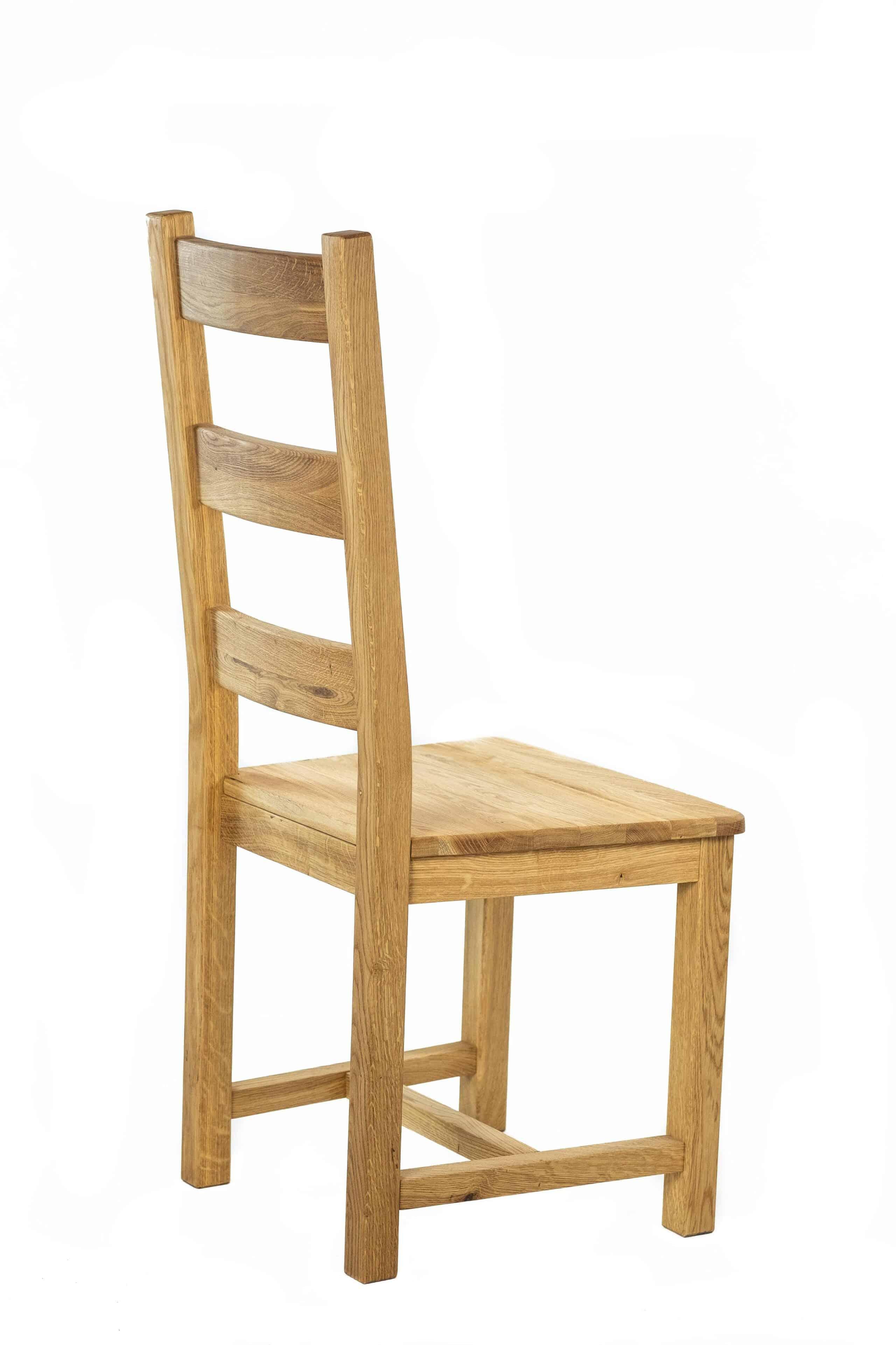 Masívne dubová stolička Ladder Back