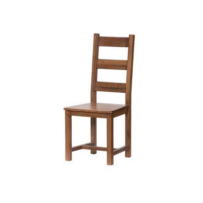 Dubová lakovaná stoličky Ladder Back, tmavý rustik