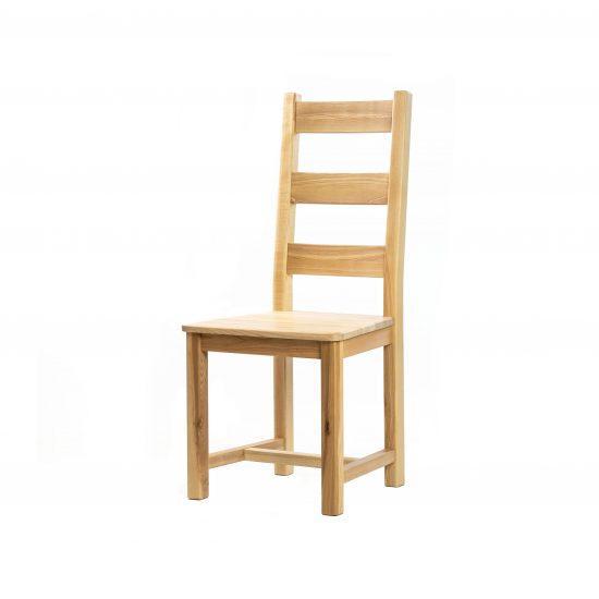 Masivní jasanová lakovaná židle Ladder Back