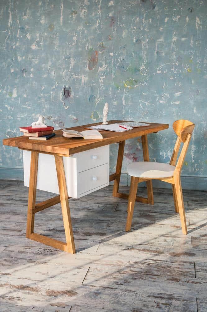 Pracovný stôl z masívneho dubu Modern