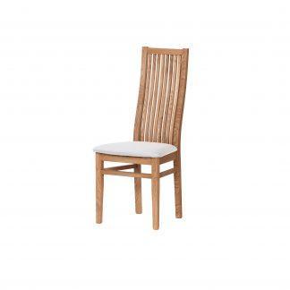 Dubová  olejovaná židle Sandra s černou koženkou