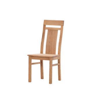 Dubová olejovaná polstrovaná židle Herman