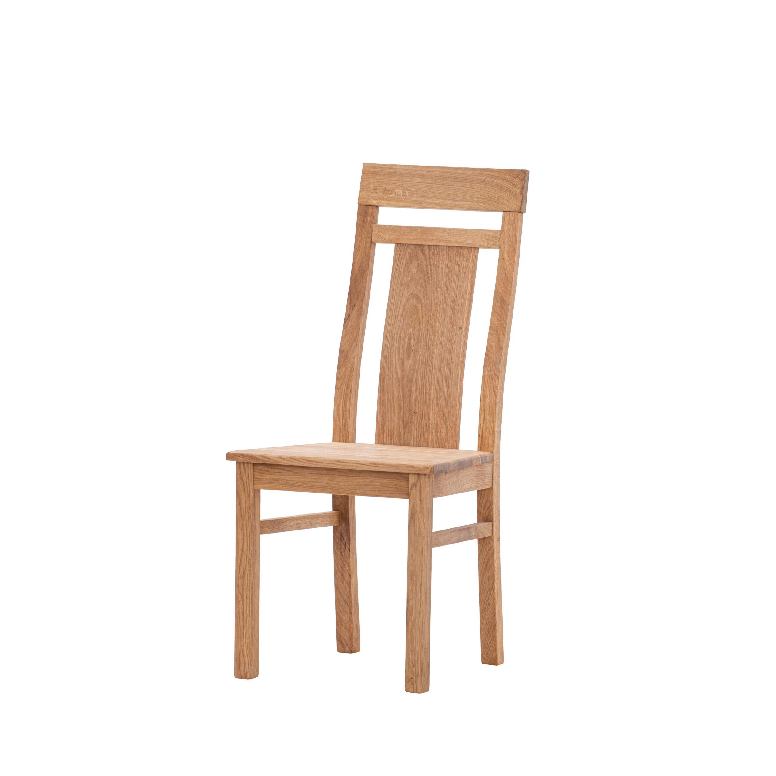 Dubová olejovaná stolička Herman s hnedou koženkou LIKVIDÁCIA