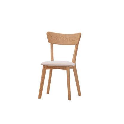 Dubová olejovaná polstrovaná židle Herman LIKVIDACE
