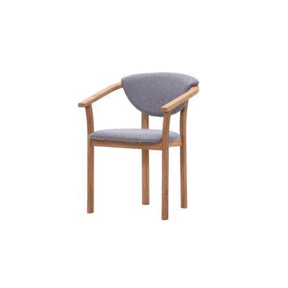 Dubová olejovaná polstrovaná stolička Herman LIKVIDÁCIA