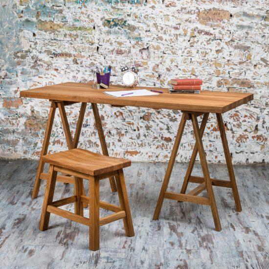 Dubový olejovaný pracovní stůl Bridge