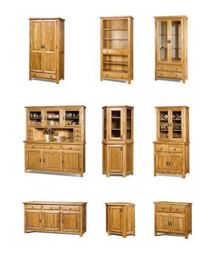 Dubová vitrína - Z masívneho dreva