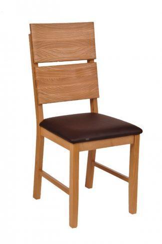 Masívne polstrovaná dubová stoličky Karla (viac variantov polstrovanie)