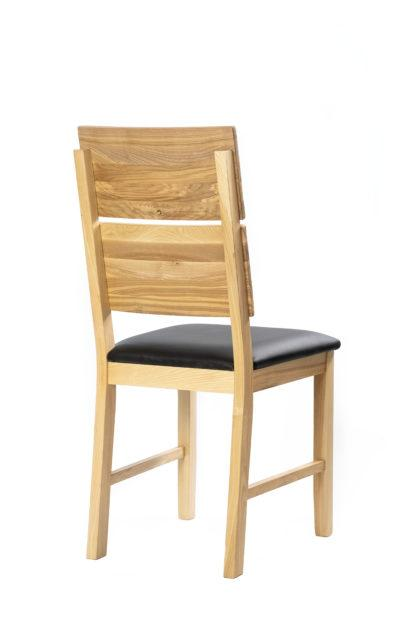 Masívne polstrovaná jaseňová stoličky Karla (viac variantov polstrovanie)