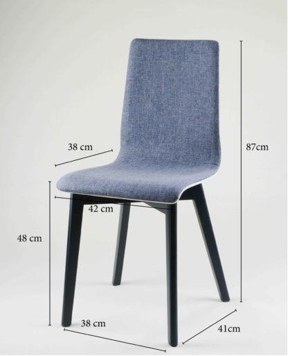 Drevená jedálenská stolička Luka SOFT Black
