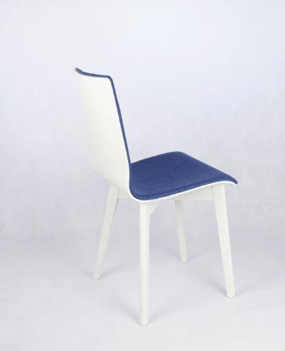 Drevená jedálenská stolička Luka SOFT Blue