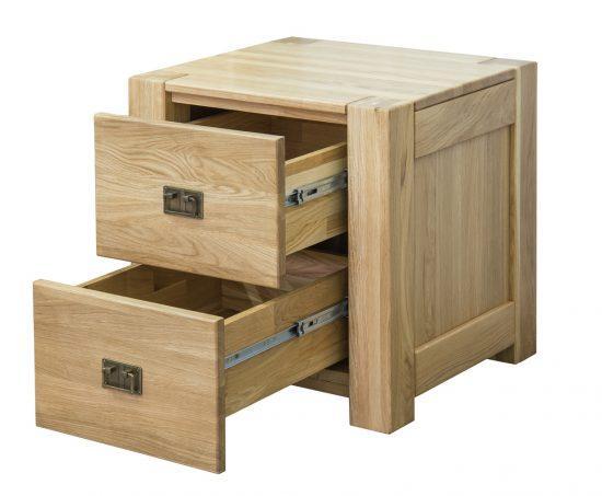 Noční dubový stolek Troja 2Z