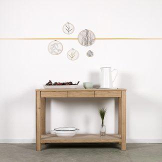 Masivní dubový odkládací stolek 3Z