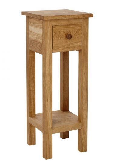 Masivní dubový odkládací telefonní stolek
