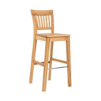 Barová dubová stolička Raines