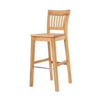 Barová olejovaná dubová stolička Raines