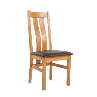 Dubová polstrovaná olejovaná židle Zaltsburg