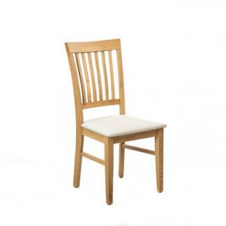 Dubová polstrovaná lakovaná židle Raines