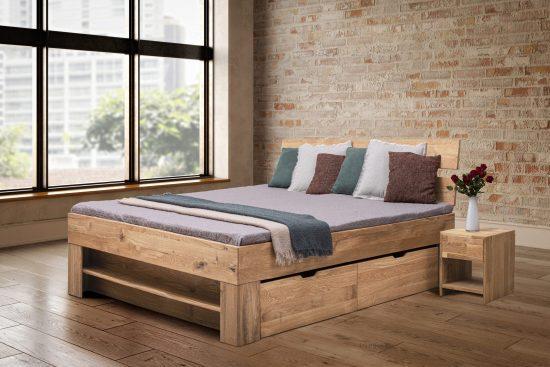 Buková masivní postel Sofi 140 x200 cm s roštem