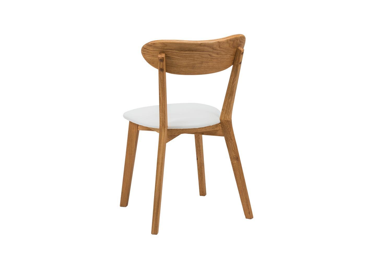 Dubová olejovaná polstrovaná stolička Isku