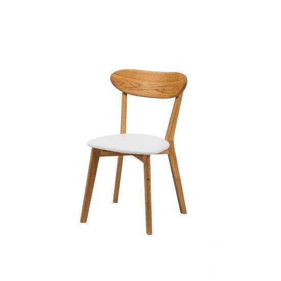 Dubová olejovaná polstrovaná židle Isku