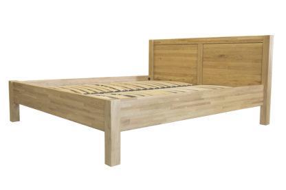 Dubová masivní postel Pavla, více variant velikostí, včetně roštu