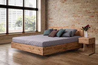 Dubová masivní postel Pavla 180 x200 cm, včetně roštu