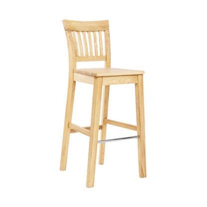 Barová jaseňová lakovaná stolička Raines