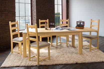 Masívne rozkladací jaseňový jedálenský stôl Island (viac variantov veľkostí)