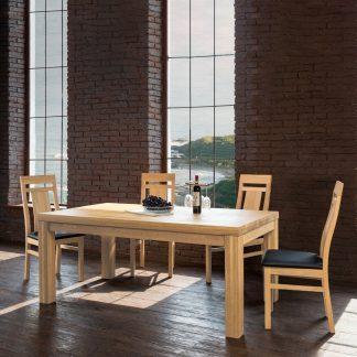 Jídelní stůl z masivního jasanu Island v lakovaném provedení (více variant velikostí)
