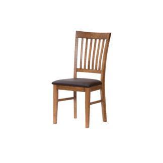 Dubová židle Raines rustik hnědá koženka