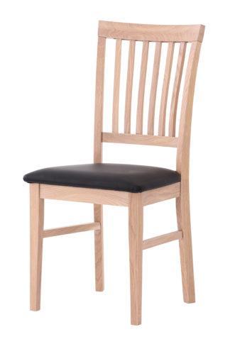 Dubová polstrovaná židle Raines olejovaný bílý dub