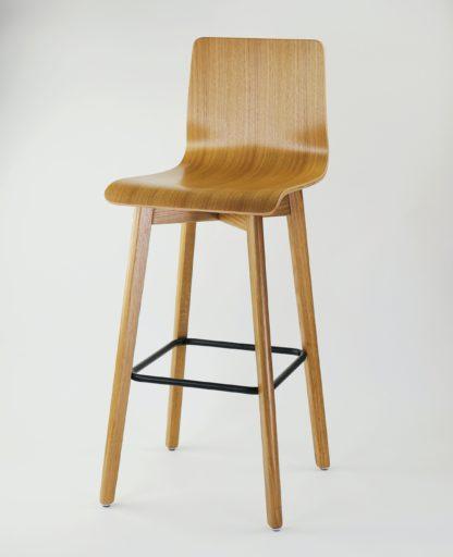 Dubová jedálenská stolička Luka L Bar