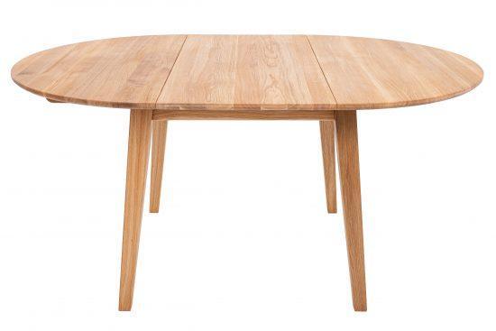 Jídelní lakovaný stůl z masivního dubu Korund (deska 4 cm)