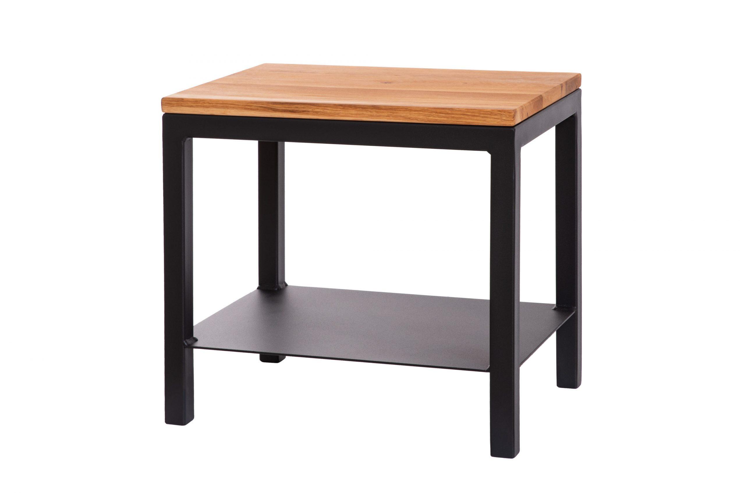 Nočný dubový stolík Iron