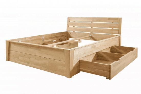 Dubová masivní postel Denisa 180 x200 cm