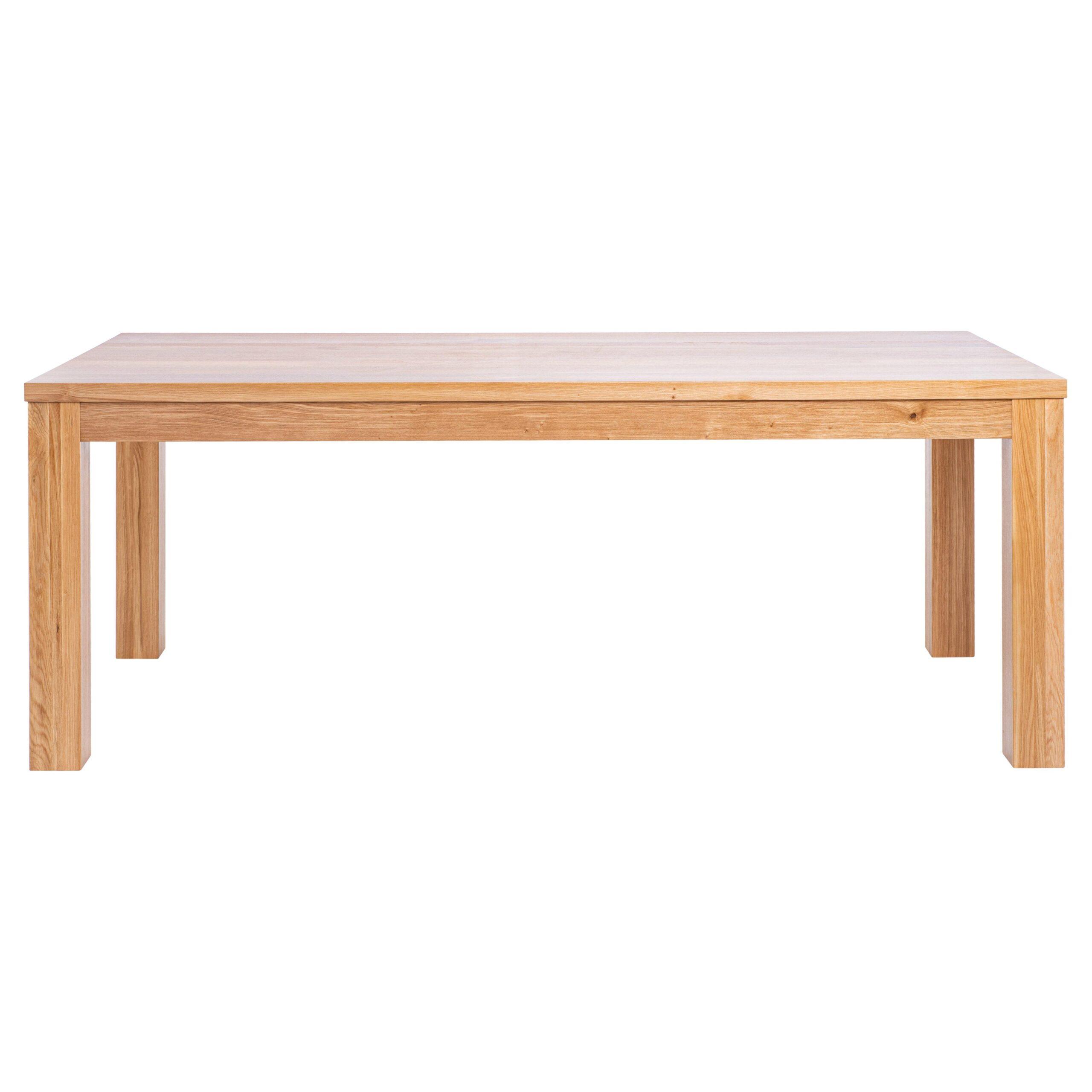 Masívne rozkladací lakovaný dubový jedálenský stôl Korund