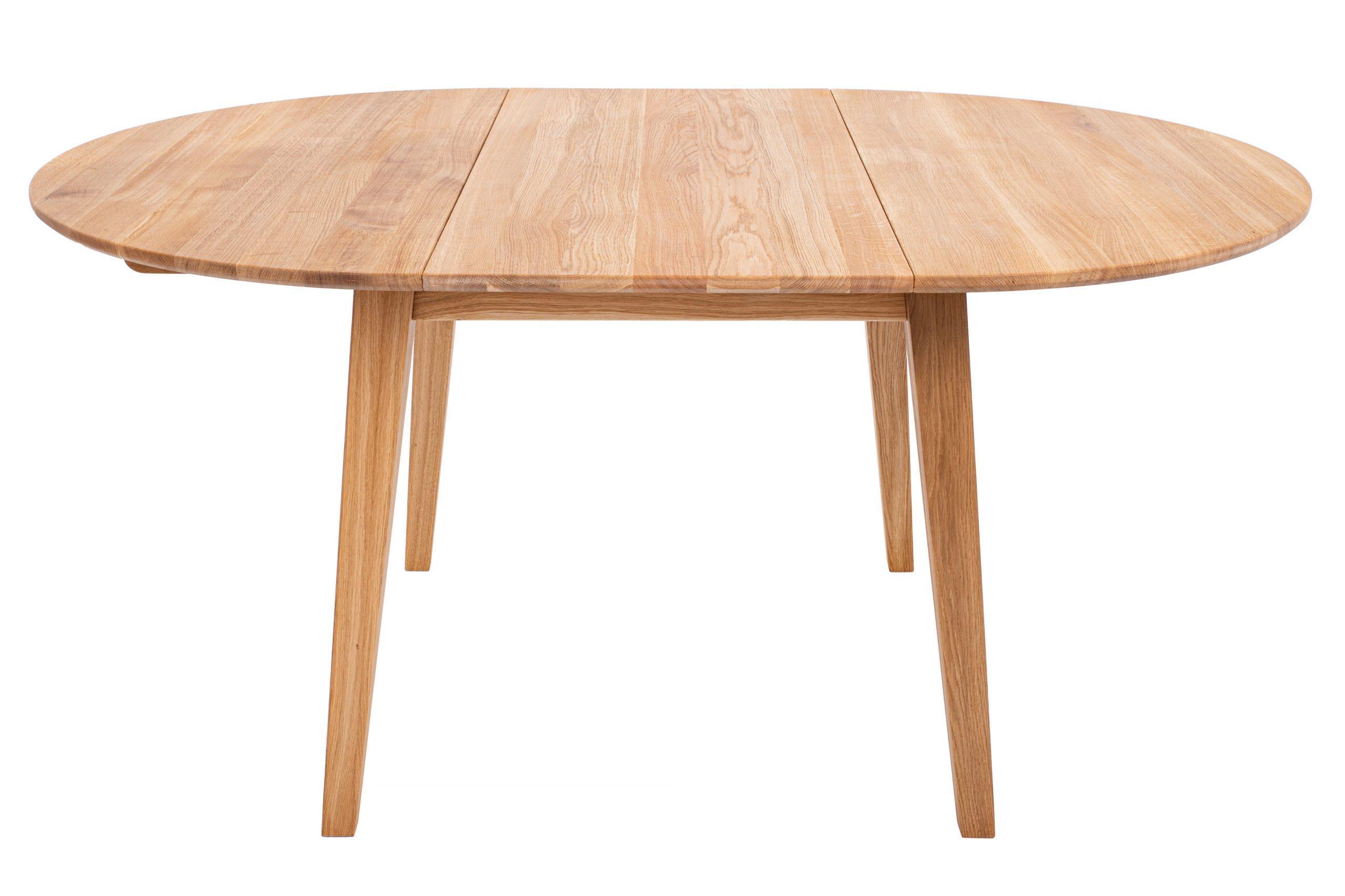 Masívny dubový olejovaný okrúhly rozkladací jedálenský stôl Genova
