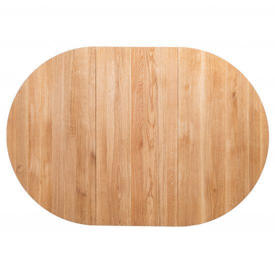 Masivní dubový olejovaný kulatý rozkládací jídelní stůl Genova